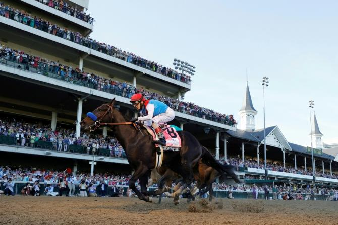 Medina Spirit ridden by jockey John Velazquez could be stripped of the Kentucky Derby victory