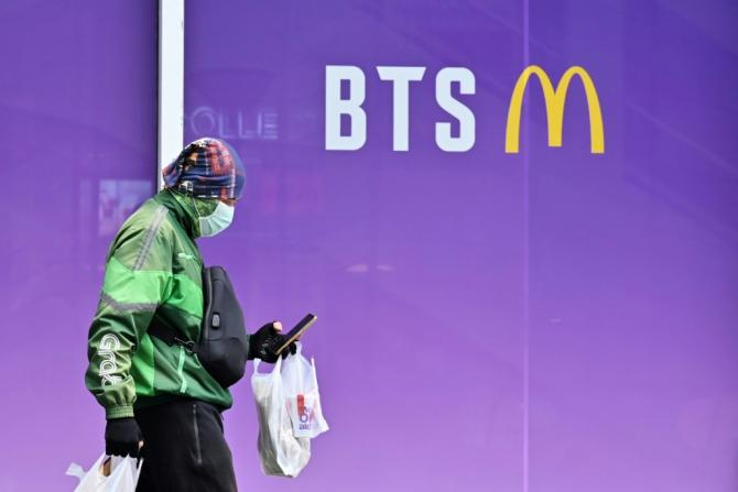 """Sales of new crispy chicken sandwiches and the limited edition K-pop band """"BTS Meal"""" boosted McDonald's US sales"""