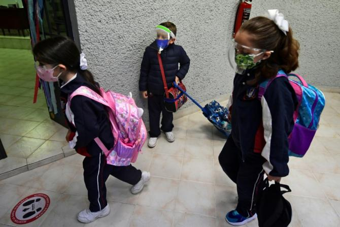 Children are returning to school in Mexico after more than a year of distance learning