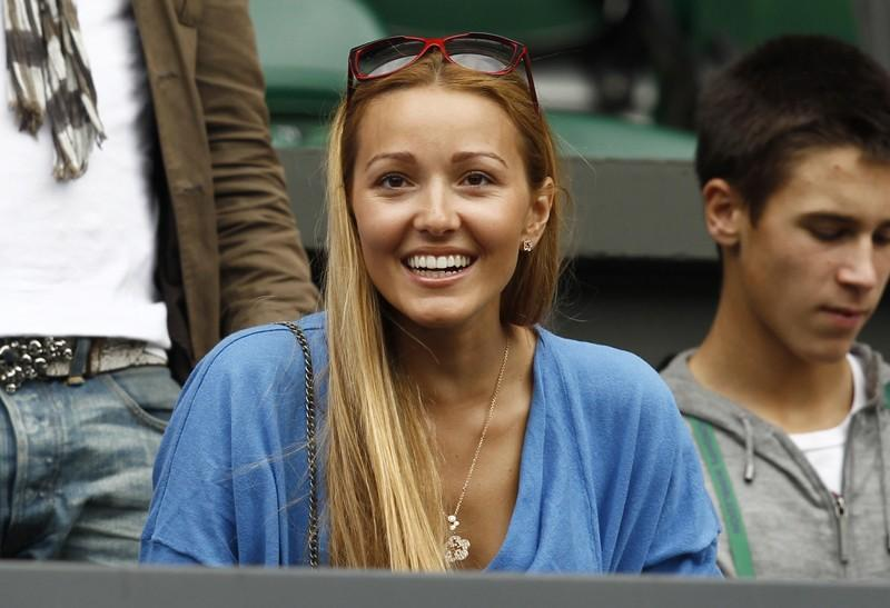 Jelena Ristic, the girlfiend of Novak Djokovic of Serbia