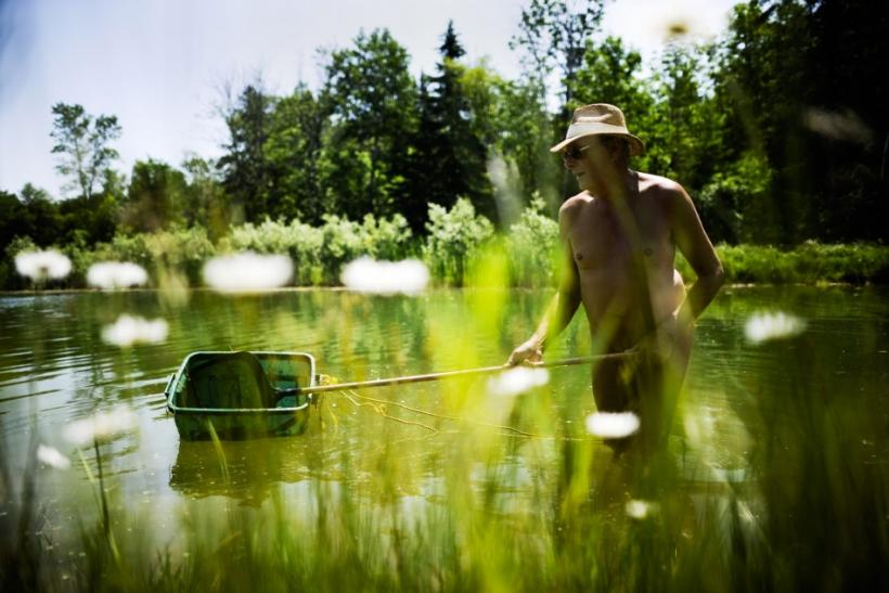 in the pond at the Bare Oaks Family Naturist park in Sharon Reuters