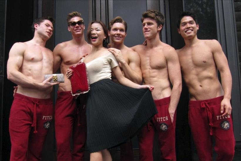 Abercrombie & Fitch Models Go Shirtless for Singapore Store Opening ...