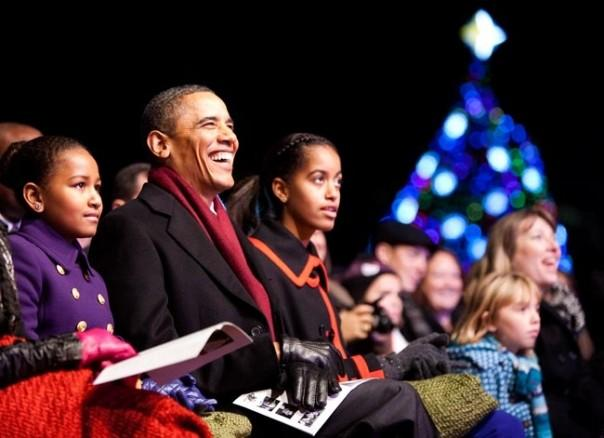 Obamas at National Christmas Tree Lighting