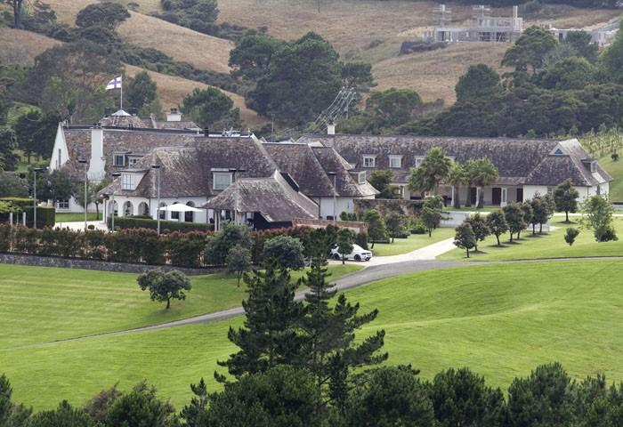 A general view shows the Dotcom Mansion, home of Megaupload founder Kim Dotcom, in Coatesville, Auckland, New Zealand January 21, 2012