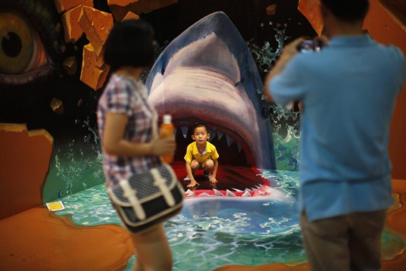 D Magic Art Exhibition China : 'magic art thrills museumgoers in hangzhou china photos