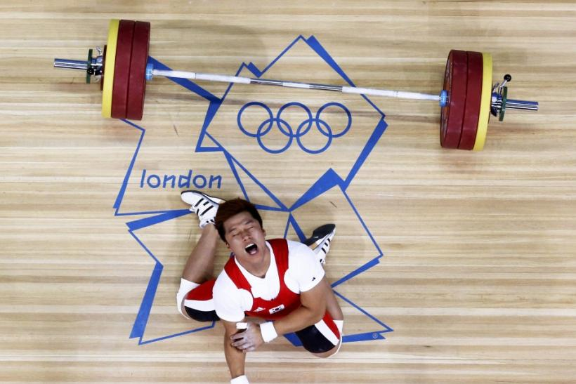 South Korean weightlifter Jaehyouk Sa