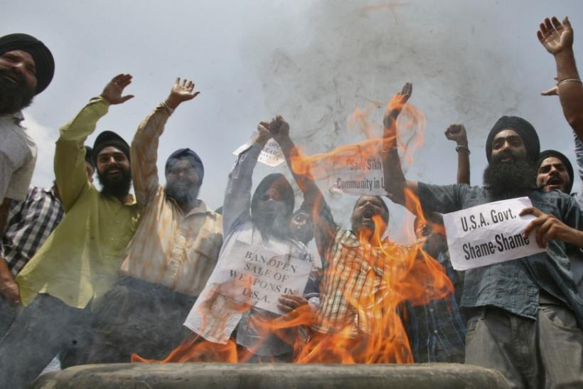 Sikhs In India Protest Against Wisconsin Sikh Temple Shooting (Photos)