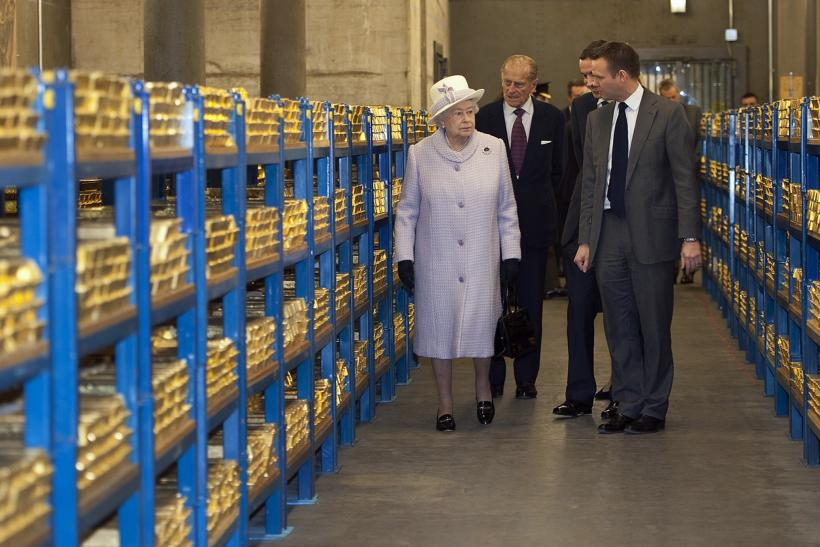 Unlike most other people, the Queen was allowed to touch and verify the gold.
