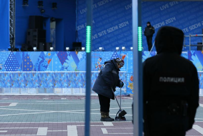 Sochi Woman Sweeping