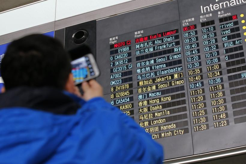 MH370 Beijing Flight Board