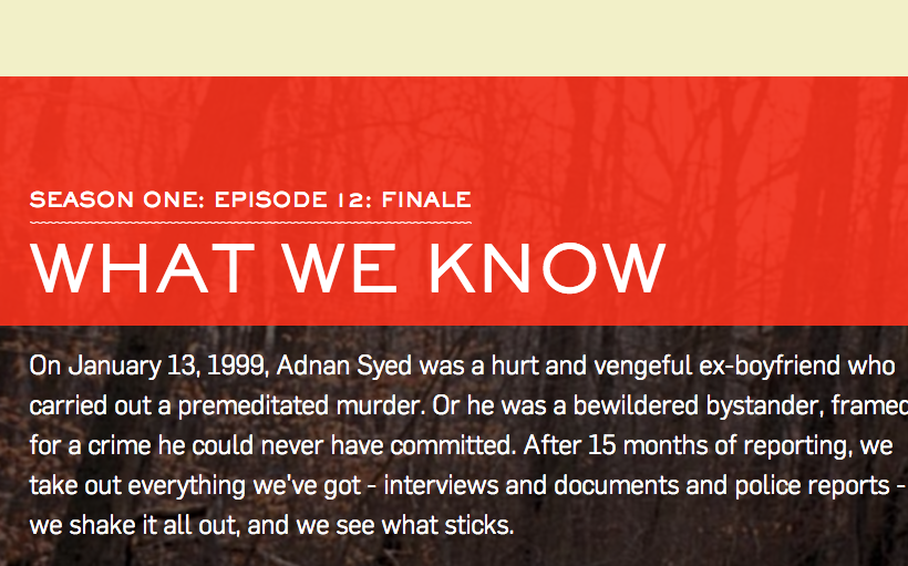 'What We Know About The 'Serial' Podcast Finale