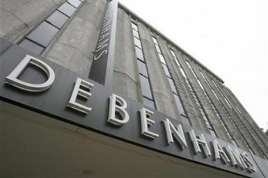 The Debenhams store is seen on Oxford Street, in central London