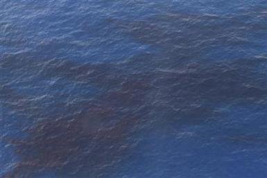 Oil floats near the site of the BP oil spill in the Gulf of Mexico