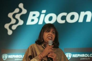 Kiran Mazumdar-Shaw, chairman and managing director of Biocon Ltd., speaks during a news conference in the southern Indian city of Bangalore March 8, 2007.