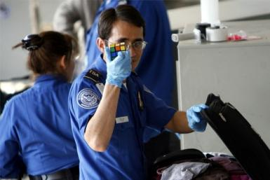A U.S. Transportation Security Administration (TSA) officer
