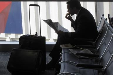 Business Traveler At Detroit Airport