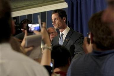 Congressman Anthony Weiner speaks to the press in New York, June 6, 2011.