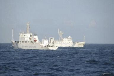 Chinese vessel in the South China Sea