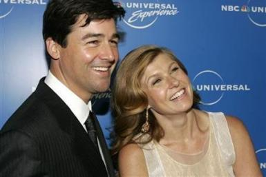 Actors Kyle Chandler (L) and Connie Britton