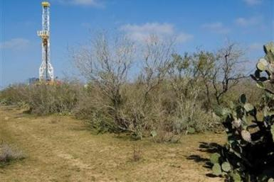 A drilling rig in the Eagle Ford Shale in South Texas