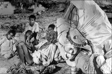 Refugees during the partition of India in 1947.