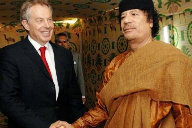 Tony Blair and Moammar Gaddafi