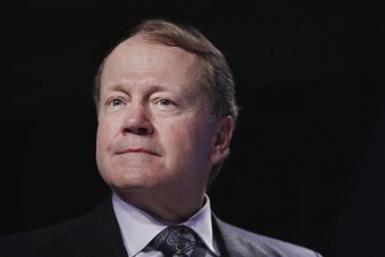 John Chambers, chairman and CEO of Cisco, takes part in a panel discussion discussing innovation for building social and economic value at the Clinton Global Initiative in New York