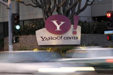 The Yahoo! offices are pictured in Santa Monica