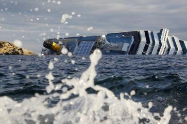 A view of the Costa Concordia cruise ship that ran aground off the west coast of Italy (Reuters)