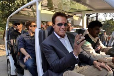 Arnold Schwarzenegger Visits Taj Mahal, Discovers It's Closed [PHOTOS]