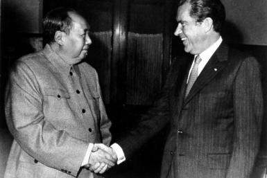 Chairman Mao and Richard Nixon