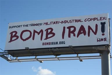 Bomb Iran Billboard