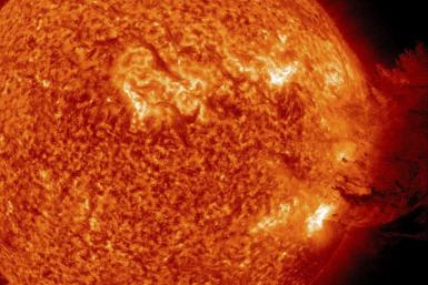 A handout picture shows Coronal Mass Ejection as viewed by the Solar Dynamics Observatory on June 7, 2011.