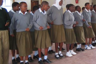 Students in Tanzania