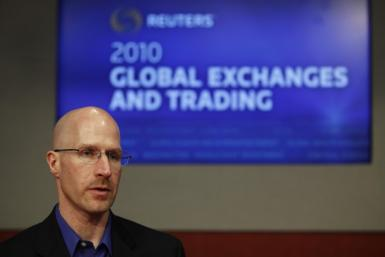 Joe Ratterman, CEO of BATS Global Markets, speaks at the Reuters Exchanges and Trading Summit in New York March 29, 2010.