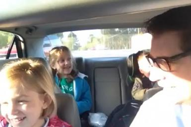 "Karma points for Dad! After uploading a video on April 11 of he and his three children driving to school and singing along to Queen's famous ballad ""Bohemian Rhapsody,"" the YouTube clip has shot up in popularity, gaining more than 40,000 hi"