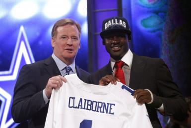 Morris Claiborne smiles after being drafted sixth overall by the Cowboys.