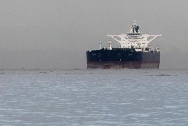 "Iranian crude oil supertanker ""Delvar"" is seen anchored off Singapore"