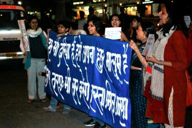 Women in Delhi Protest against rape