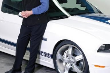 Carroll Shelby with the 2011 Shelby GT350.