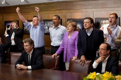 Obama G8 Champions League Final Photo
