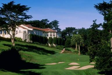 The Olympic Club seen from the 18th fairway. The final holes are picturesque, but the first few are all business.