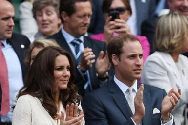 Kate Middleton and Prince William at Wimbledon.