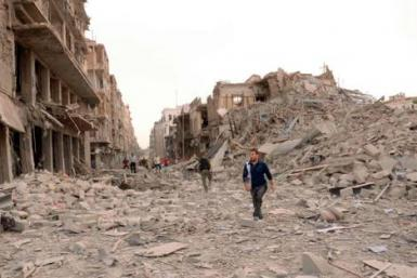 Wreckage in Aleppo, Syria