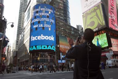 Facebook Logo On Nasdaq Display, Times Square, New York