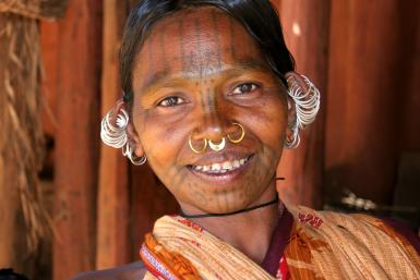Indian tribal woman