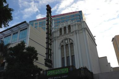 Apple (AAPL) Decorates The California Theatre For iPad Mini Special Event