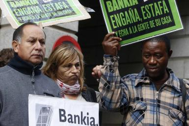 Mortgage Victims' Platform At Bankia HQ