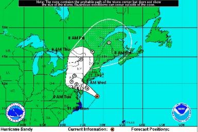 Hurricane Sandy Path Update