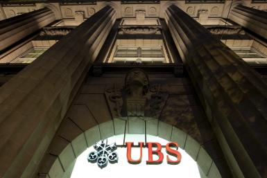 Logo of Swiss bank UBS.